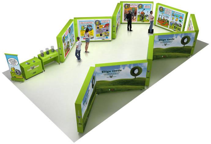 La exposición de TNU 'Recicla y Sonríe', presente en Motortec