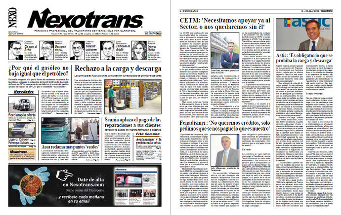Lea la edición del Periódico NEXOTRANS en pdf