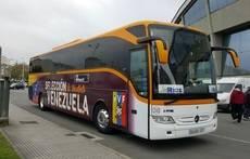 Monbus apoya a las selecciones de Galicia y Venezuela en sus traslados en autobús