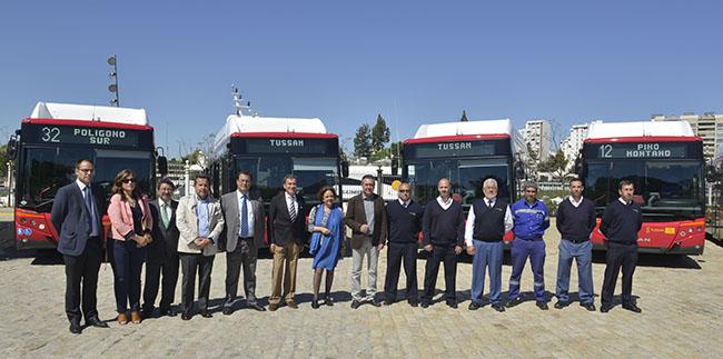 Tussam invierte 3,14 millones de euros en 10 nuevos autobuses articulados