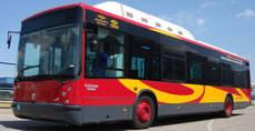 Autobús de una de las líneas de Tussam