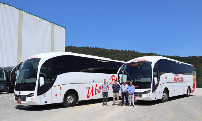 Úbeda Bus y Autocares Montijano reciben sus nuevos Sunsundegui SC7