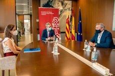 Roser Obrer, Arcadi España y Carlos Prades.