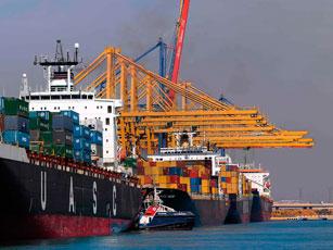 7,3 millones de contenedores movidos en los seis primeros meses del año