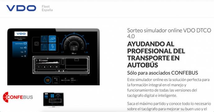 Continental sortea cada semana un simulador online VDO de tacógrafo