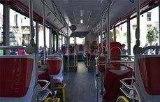 Parte interior de los autobuses