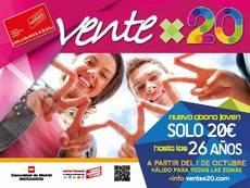 Abono joven Ventex20.