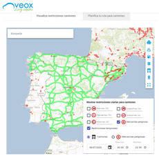 Veox tiene en cuenta el tráfico real antes de planificar las rutas