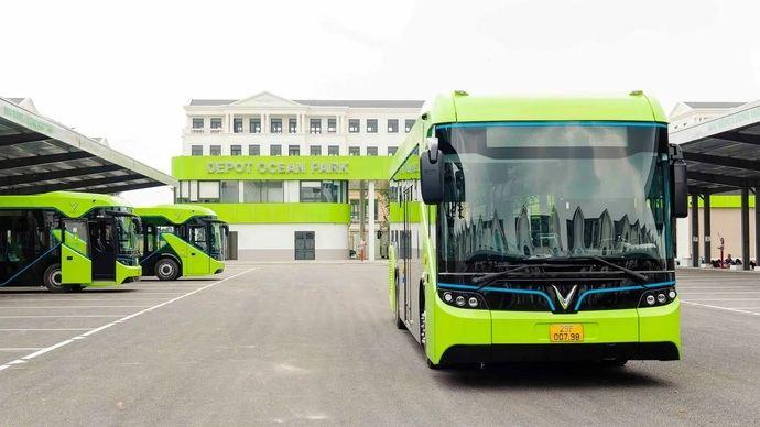 VinBus lanza su primer autobús 100% eléctrico en Vietnam, para su primera línea verde
