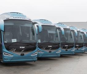 Volvo Buses entrega cinco autocares Volvo B11R a Grupo Chapín