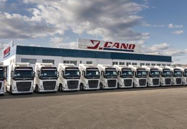 J. Cano incorpora 120 unidades del Volvo FH con I-Save