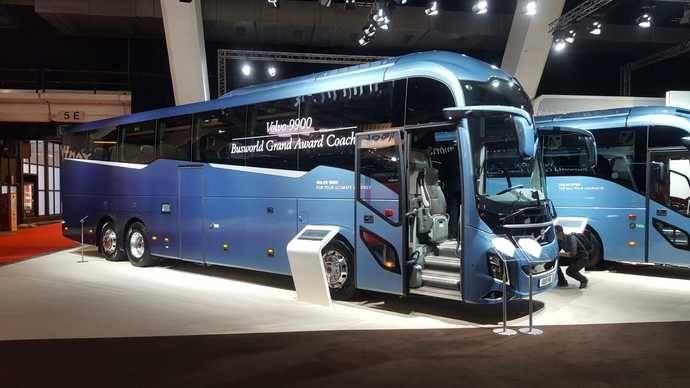 El Volvo 9900 logra diversos premios en la feria de Busworld Europa
