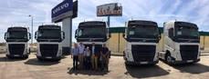 Entrega de los vehículos Volvo a Avitrans Urgente