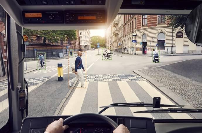 El Sistema de Detección de Peatones y Ciclistas de Volvo Buses