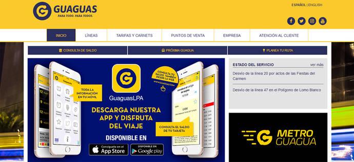 Guaguas Municipales renueva su página web