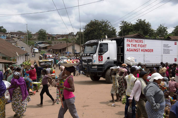 La unidad móvil de formación de Renault Trucks en África.