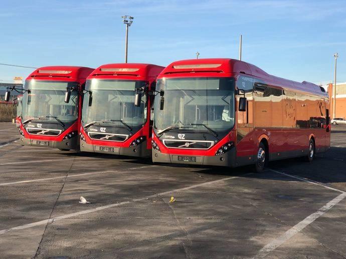 Nuevos autobuses híbridos adquiridos comienzan a llegar a Zaragoza