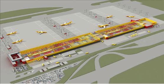 DHL invierte 150 millones de euros para duplicar la capacidad de su 'hub' europeo en el municipio alemán de Leipzing