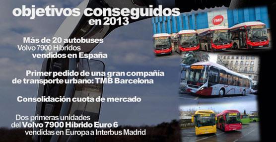 Volvo Buses cierra 2013 con una penetración del 15,6%, consolidándose en interurbano y creciendo en urbano