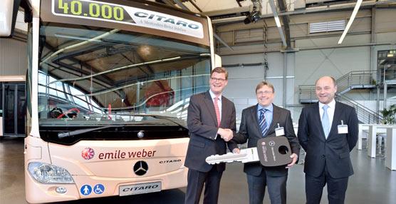 La división de autobuses de Mercedes-Benz celebra cifras récord por partida doble: 40.000 Citaro y 20.000 minibuses