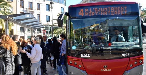 Crece un 3% el uso de los autobuses de EMT Valencia durante los días festivos de Semana Santa