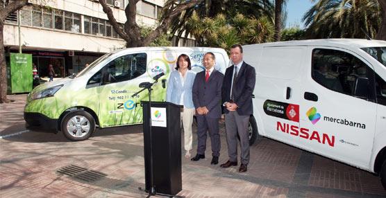 El Ayuntamiento de Barcelona impulsa el uso en Mercabarna del nuevo modelo de furgoneta eléctrica de Nissan e-NV200