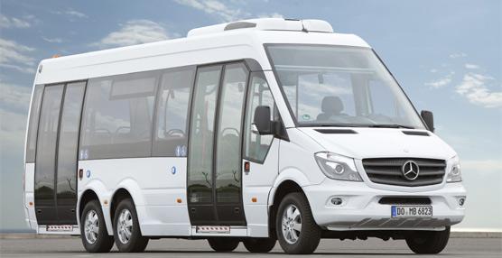 Mercedes ultima la serie de minibuses Sprinter con motores Euro 6 AdBlue: transporte de viajeros a voluntad