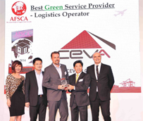 CEVA recibe el premio Best Green Logistics Operator en los Asian Freight and Supply Chain Awards 2014
