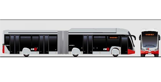 VDL Bus & Coach fabrica los primeros autobuses articulados eléctricos para el operador de transportes KVB Cologne