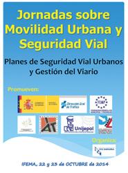 Las Jornadas Sobre Movilidad Urbana y Seguridad Vial se celebran los próximos 22 y 23 de octubre en Madrid