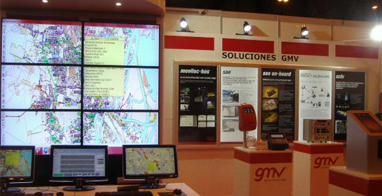 Sistemas tecnológicos de última generación en el stand de GMV en la Feria Internacional del Autobús y del Autocar