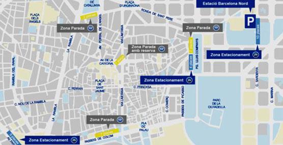 Entra en funcionamiento la reordenación de los autocares turísticos de Ciutat Vella en Barcelona
