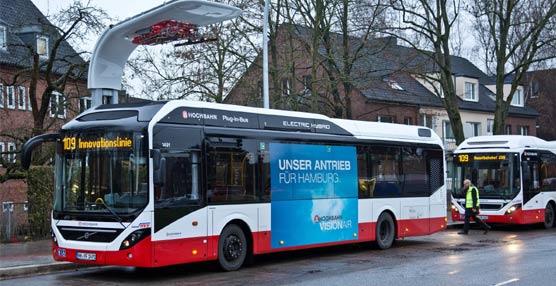 El nuevo híbrido eléctrico de Volvo debuta en el servicio regular como parte de los buses que operan en la 'Ruta de la Innovación 109'