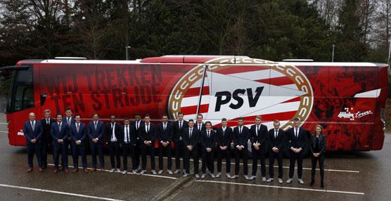 El autobús que transportará a los jugadores y cuerpo técnico del PSV Eindhoven es un VDL Futura FHD2-139