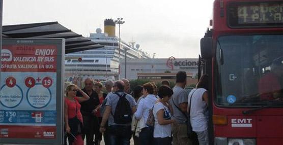 Los títulos de transporte público de Valencia registran más de 540.000 cargas y recargas de enero a noviembre de 2014