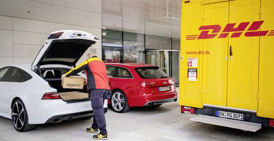 Audi, DHL y Amazon desarrollan un servicio para facilitar y hacer más cómoda la compra 'online'
