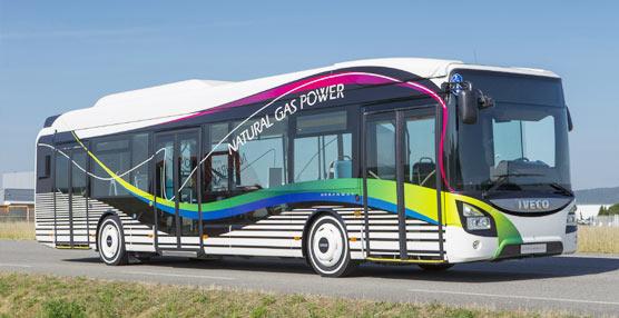 Iveco Bus renueva su gama Urbanway con la versión de GNC, que se ha desvelado en UITP Milano 2015