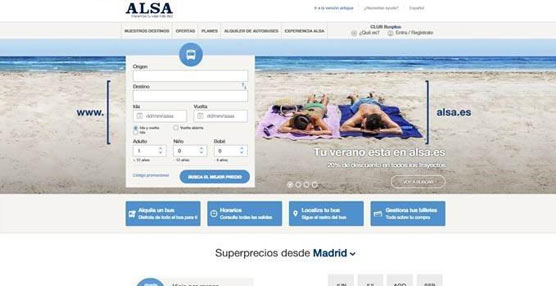 Alsa estrena una nueva web que muestra en todo momento la mejor tarifa disponible para viajar