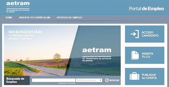 La página web de Aetram decide poner en marcha un nuevo portal de empleo
