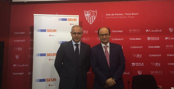Sevilla Fútbol Clubconfía en la compañía SEUR las soluciones logísticas de su tienda online a través de un acuerdo